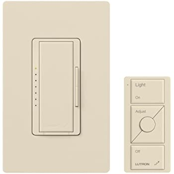 Lutron Mrf2 600mthw La Maestro Wireless Dimmer With Pico Controller Kit Light Almond Wall