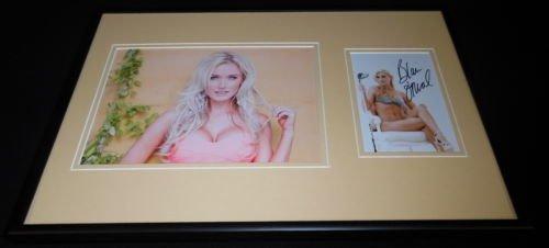 Blair O'Neal Signed Framed 12x18 Bikini Photo Display B