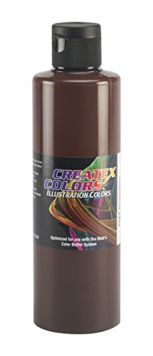 Createx Colors Paint for Airbrush, 8 oz, Illustration Burnt Umber