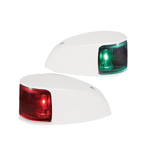 HELLA 980620811 '0620 Series' NaviLED Multivolt 8-28V DC 2 NM Deck Mount Port and Starboard Navigation Light Kit with Colored Outer Lens and White Shroud