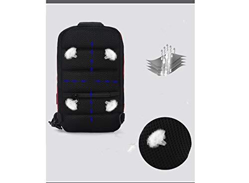 Color : Red YQSMYSW Mens Chest Bag USB Charging Mens Shoulder Bag Diagonal Bag Casual Waterproof Shoulder Messenger Bag