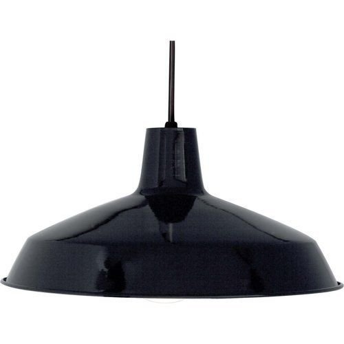 (USA Warehouse) Nuvo Lighting 76/284 Black Industrial 1 Light Indoor Barn Pendant - 16 Inches -/PT# HF983-1754424760