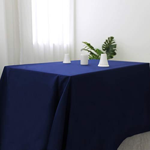 Zdada Navy 50x80'' 100% Polyester Tablecloth Rectangular Table Cloth Wedding Reception Restaurant Banquet Party ()