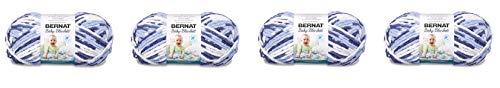 Bernat Baby Blanket Yarn - (6) Super Bulky Gauge - 10.5 oz - Blue Dreams - Single Ball Machine Wash & Dry (16110404134) (4-Pack) by Bernat (Image #5)