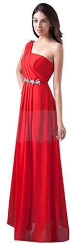 Damen Rot Drasawee Rot Shoulder Kleid One gFHwqvdxR