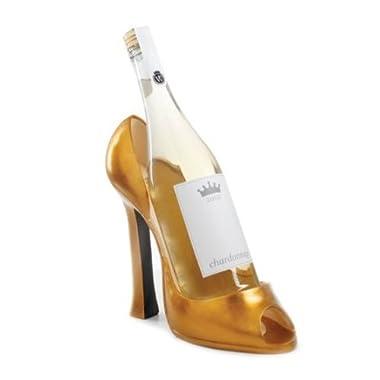 Wild Eye High Heel Bottle Holder, Gold