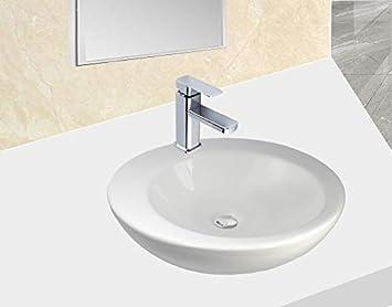 Warenplus 1x Vasque Dangle Suspendu Vasque à Poser En Céramique