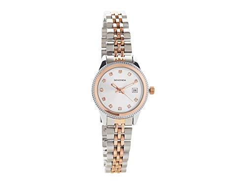 cf52a632310c Sekonda Womens 2763 Serenity Two Tone Bracelet Wrist Watch: Amazon ...