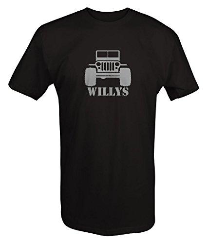 Stealth - Willys Jeep Military CJ Flat Fenders Split Grill T shirt - Large