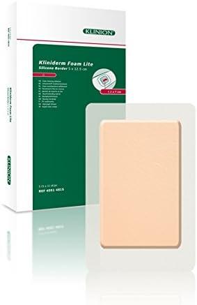 Kliniderm, apósito de espuma de silicona con bordes delgados, 12,5 x 5 cm: Amazon.es: Salud y cuidado personal