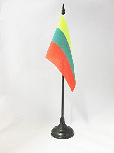 AZ FLAG Drapeau DE Table Lituanie 15x10cm - Petit Drapeaux DE Bureau LITUANIEN 10 x 15 cm