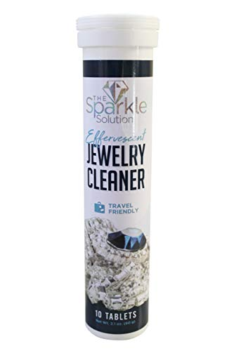The Sparkle Solution - Effervescent Travel Friendly Jewelry Cleaner for Diamonds and More (Best Diamond Cleaner At Home)
