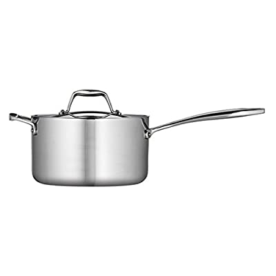 Tramontina Gourmet Tri-Ply Clad Covered Sauce Pan with Helper Handle