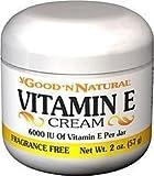 Good 'N Natural - Vitamin E Cream Fragrance Free 6000 IU - 2 oz. by Good 'N Natural