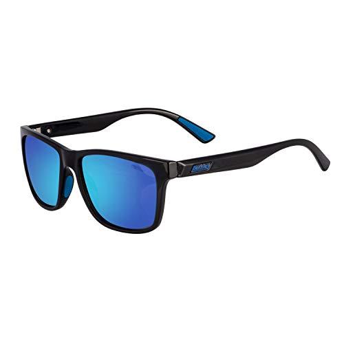 Berkley Ber003 Sunglasses Ber003 Polarized Fishing Sunglasses, Gloss Black/Smoke/Blue ()