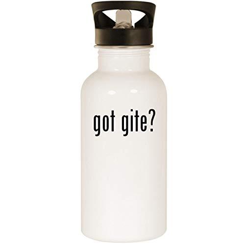 got gite? - Stainless Steel 20oz Road Ready Water Bottle, White (France De Gites)