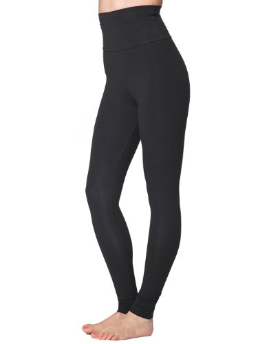 232d8c00eccce American Apparel Cotton Spandex Jersey High-Waist Leggings - Black / S:  Amazon.co.uk: Clothing