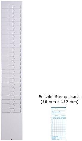 Kartenhalter Metall für 10 Stempelkarten 86 mm breit schwarz