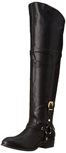 Report Signature Women's Geena Engineer Boot, Black, 9 M US