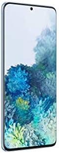 هاتف سامسونج جالكسي اس 20 بلس ثنائي شرائح الاتصال - 128 جيجا، بذاكرة رام 12 جيجا، الجيل الخامس لون ازرق فاتح