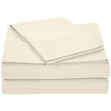 AmazonBasics Microfiber Sheet Set - Twin, Beige