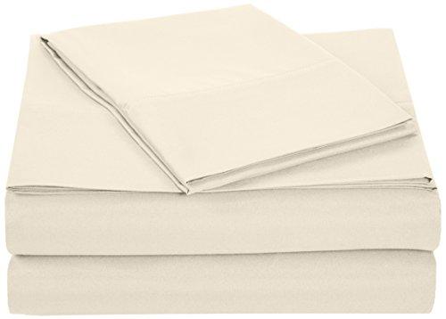 AmazonBasics Microfiber Sheet Set - Twin, Beige