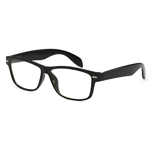 VINTAGE Nerd Geek 2 color Frame Clear Lens Eye Glasses - Glasses Black Stylish
