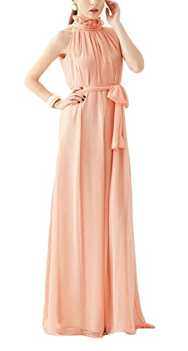 Chiffon Long Women Wedding Halter Evening Jaycargogo Dress Fashion Dress 1 Maxi Party ABqxS