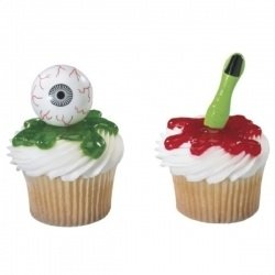 [Scary Eyeball and Finger Cupcake Picks - 12ct] (Frankenstein Costume Pics)