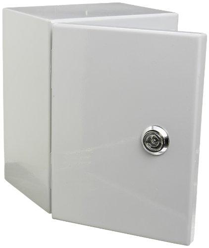 (BUD Industries Series SNB Steel NEMA 4 Sheet Metal Box with Mounting Bracket, 5-29/32