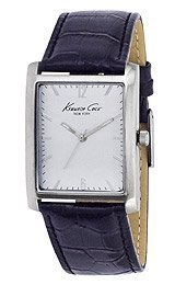 Kenneth Cole New York Rectangular with Croco-Embossed Strap Men's watch #KCW1003 ()