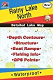 Fishing Hot Spots Map of Rainy Lake (Northern Section)