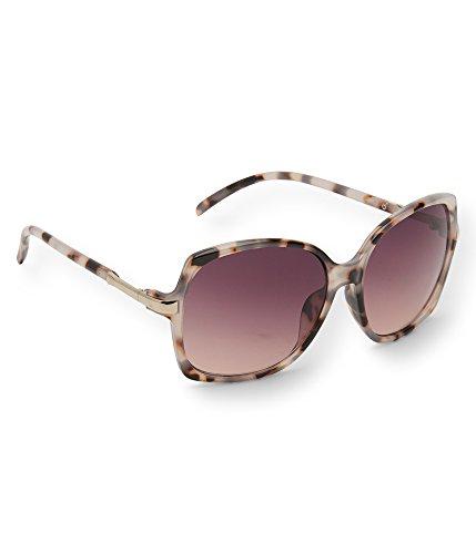 Aeropostale Marbled Plastic Sunglasses Ltbrwn - Sunglasses Aeropostale