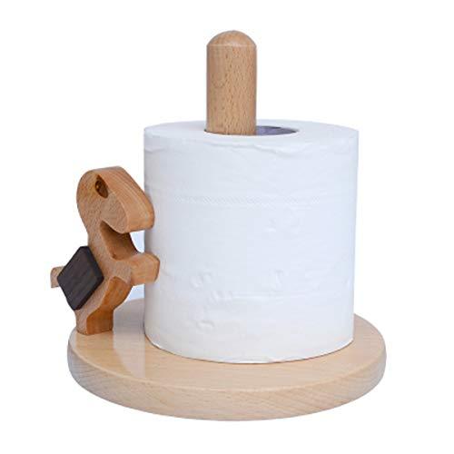 Q&F Toilet Paper Holder Home Solid Wooden Tissue Holder,Waterproof,Non-slip,Desktop Storage Rack by Q&F