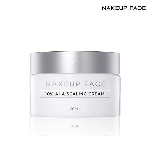 Nakeup Face Renewal New AHA Scaling Cream 10%, 10% Glycolic Acid, Exfoliant, Sebum and Pore Control, Dead Skin Cell, Whitening, Moisturizing, Exfoliating