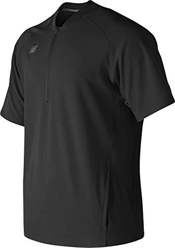 - New Balance Mens Short Sleeve 3000 Batting Jacket, Team Black, 3X-Large