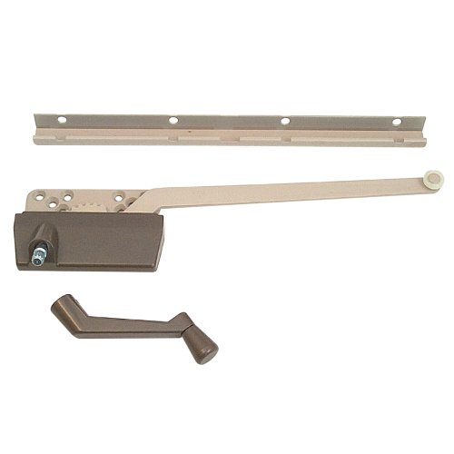 Prime-Line Products H 3948 Wood Casement Operator with Track and 9-1/2-Inch Arm, Bronze
