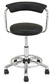 【前後左右に楽々移動】 パーソナル カウンターチェア 椅子 (ブラック/BK) B06X9258FB ブラック/BK ブラック/BK