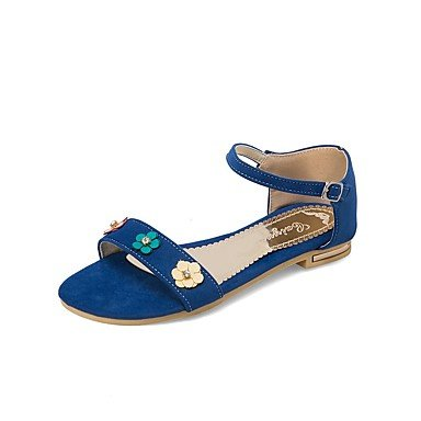 Zormey Sandalias De Mujer Zapatos Primavera Verano Otoño Club D'Orsay &Amp; Exterior De Piel Sintética De Dos Piezas Planas De Vestir Casual Talón Flor De Hebilla US10.5 / EU42 / UK8.5 / CN43