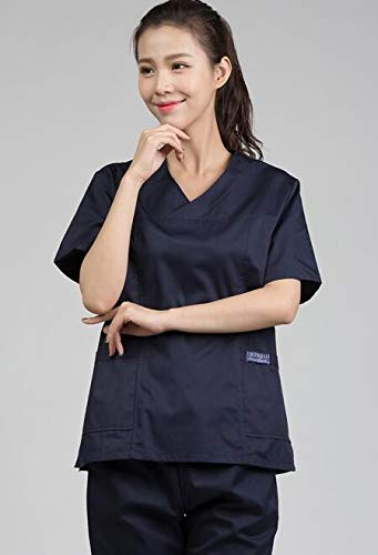 OPPP Ropa médica Batas médicas Trajes de peluquería Salones de Belleza Guardapolvos médicos Enfermera Femenina Uniforme Farmacia: Amazon.es: Deportes y aire ...