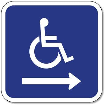 amazon com ada handicapped wheelchair accessible symbol signs with