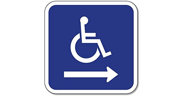 Amazon Ada Handicapped Wheelchair Accessible Symbol Signs With