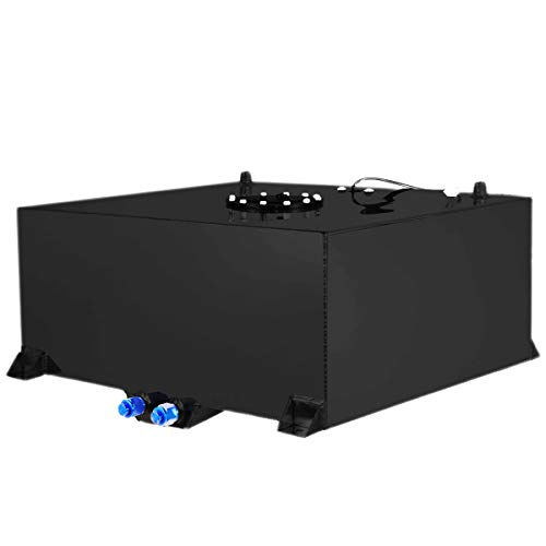Stark 20 Gallon Aluminum Gallon Fuel Cell Tank Lightweight Polished Fuel Cell Tank DIY Storage Fuel Tank 20Gallon / 80L