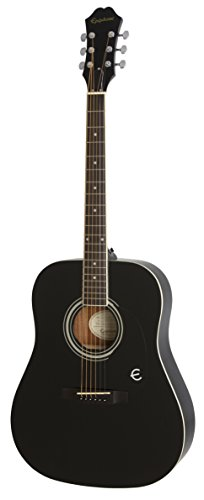 Epiphone EAFTEBCH3 FT-100 Jumbo Acoustic Guitar, Ebony