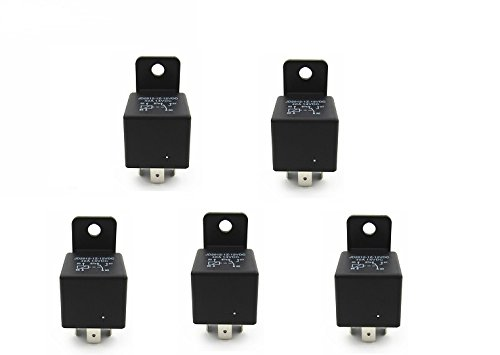 Shenlang Car Relay 5 Pins 12V 40amp SPDT Auto Electrical Switches Starters with Mounting Tab Pack of - Volusia Mall