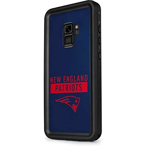 Skinit Waterproof Phone Case for Galaxy S9 - Officially Licensed NFL New England Patriots Blue Performance Series Design