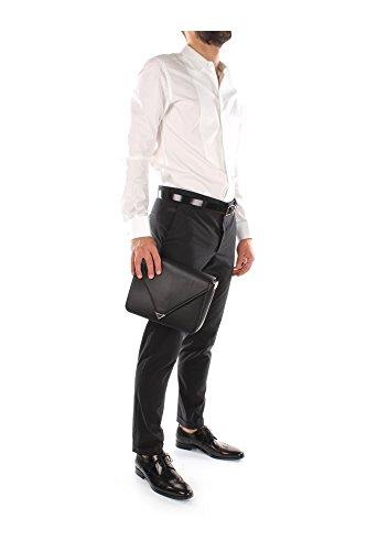 Bolso con Bandolera Alexander Wang Hombre Piel Negro y Plata 20R0147001 Negro 9x18x26 cm
