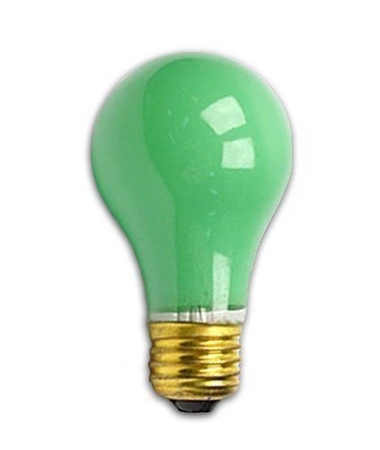 Bulbrite 106425 - 25A/CG - Ceramic Green 25 Watt A19 Light Bulb