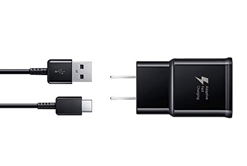Samsung EP-TA20JBEUGUS Fast Charge USB-C 15W Wall Charger for Galaxy Note 8, 9, Galaxy S8, S8+, S9, S9+, S10, S10+, S10E Inbox Replacement - Retail Packaging - - Wall Samsung Charger