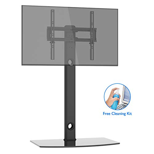 1home Universal TV Stand with Swivel Bracket Height Adjustable Fits 26 to 50 inch LCD LED VESA 400x400mm